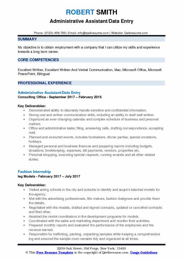 administrative assistant data entry resume samples qwikresume objective sample pdf hydro Resume Data Entry Objective Resume Sample