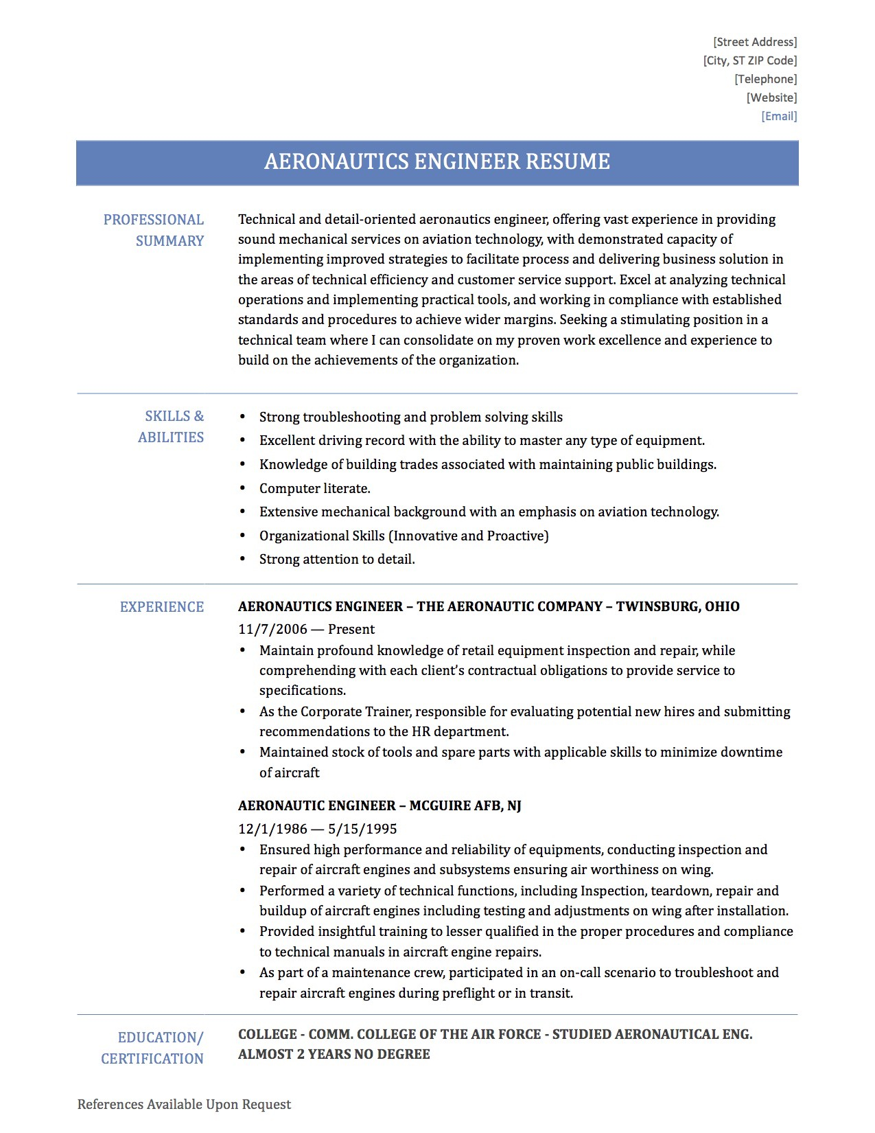 aeronautical engineer resume objective march aerospace engineering student Resume Aerospace Engineering Student Resume