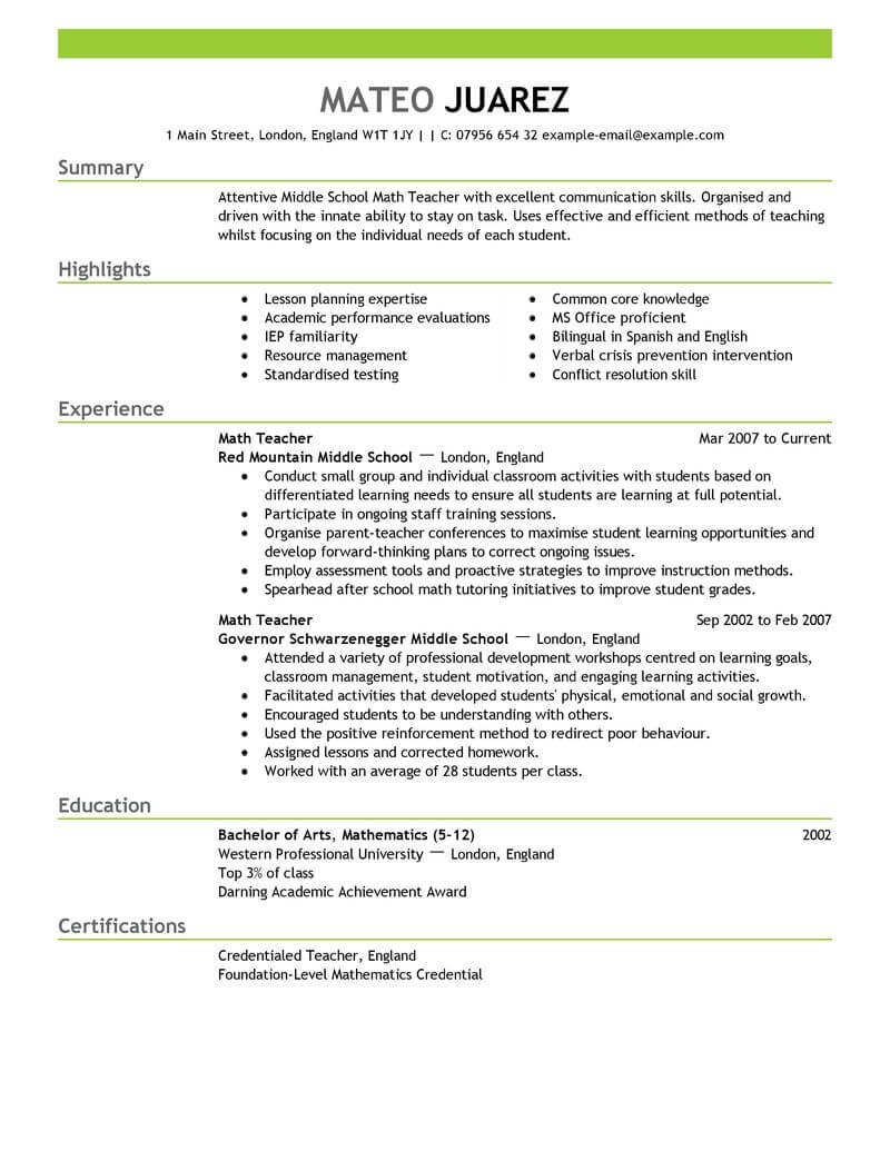 amazing education resume examples livecareer free sample for teachers teacher emphasis Resume Free Sample Resume For Teachers