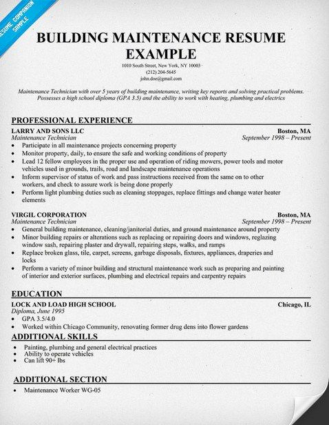 apartment maintenance resume latest format project manager job examples good supervisor Resume Maintenance Supervisor Duties For Resume