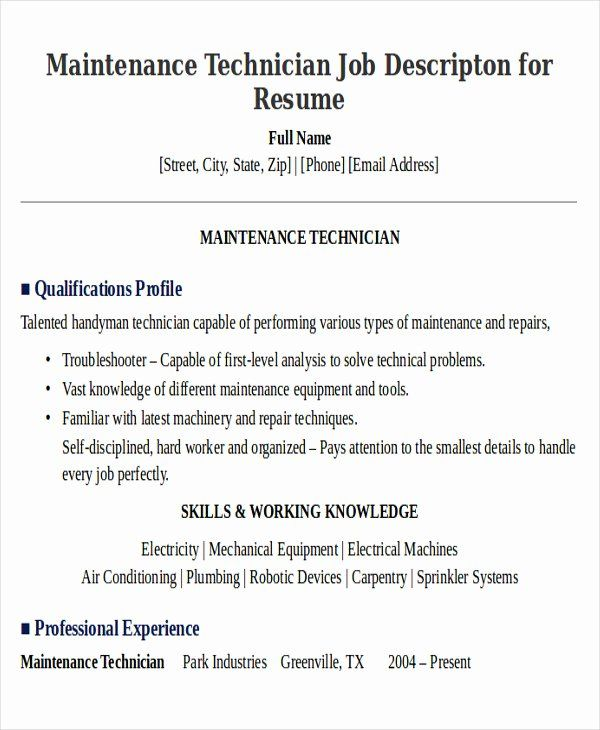 apartment maintenance technician resume luxury sample examples in word job samples nurse Resume Sample Resume For Apartment Maintenance Technician