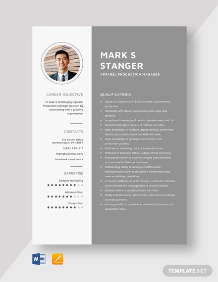 apparel production manager resume cv template word apple garment factory validator create Resume Garment Factory Manager Resume