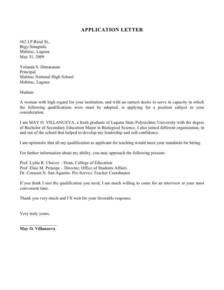 application letter sample for fresh graduate cover resume letters computer science Resume Cover Letter For Resume For Fresh Graduate