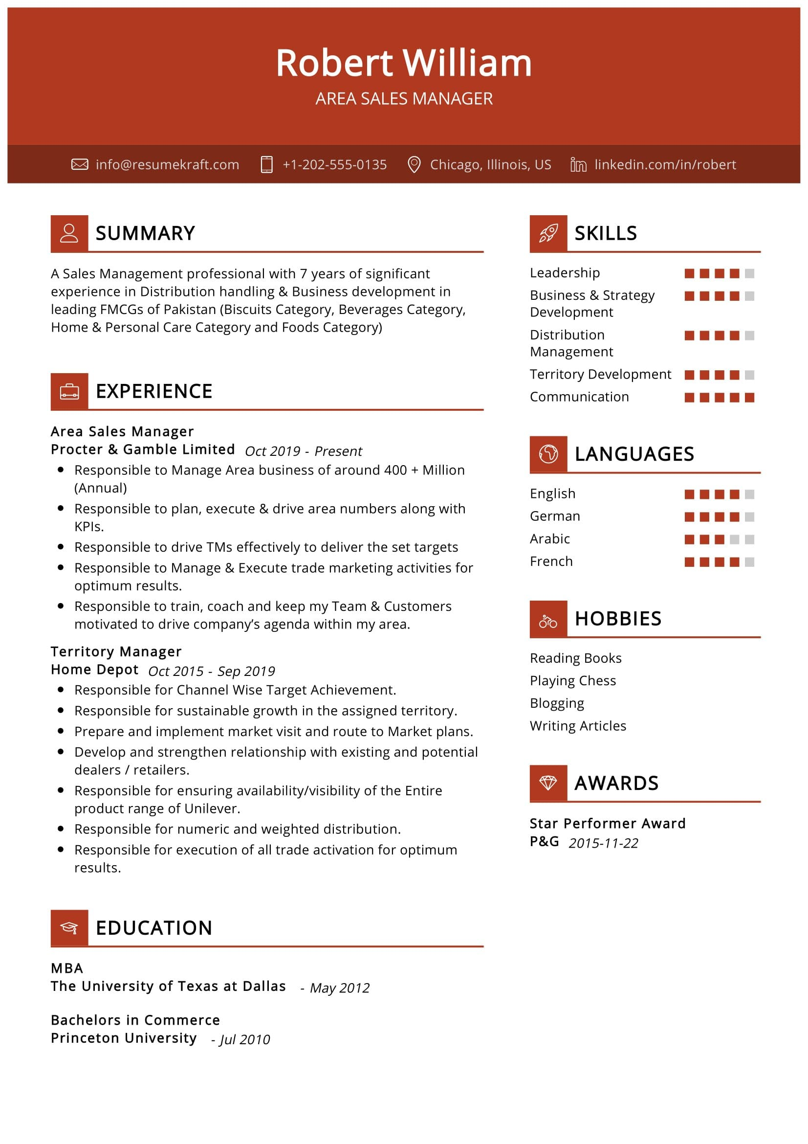 area manager resume sample resumekraft template free nursing templates for client service Resume Sales Manager Resume Template