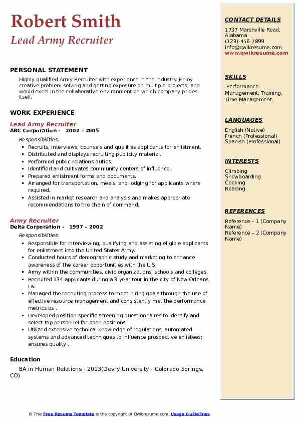 army recruiter resume samples qwikresume military pdf another word for babysitting on le Resume Military Recruiter Resume