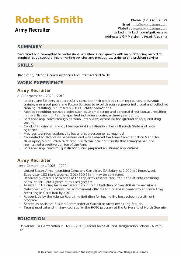 army recruiter resume samples qwikresume military pdf making on word special security Resume Military Recruiter Resume