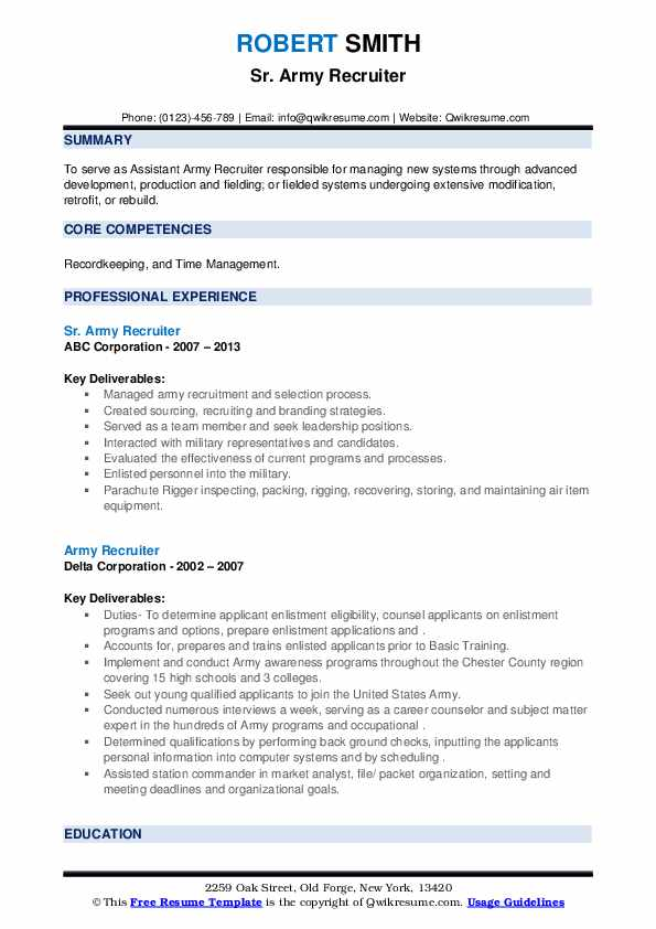 army recruiter resume samples qwikresume military pdf skills for microsoft office entry Resume Military Recruiter Resume