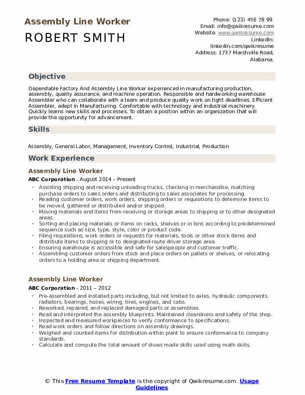 assembly line worker resume samples qwikresume operator pdf payments business analyst job Resume Assembly Line Operator Resume