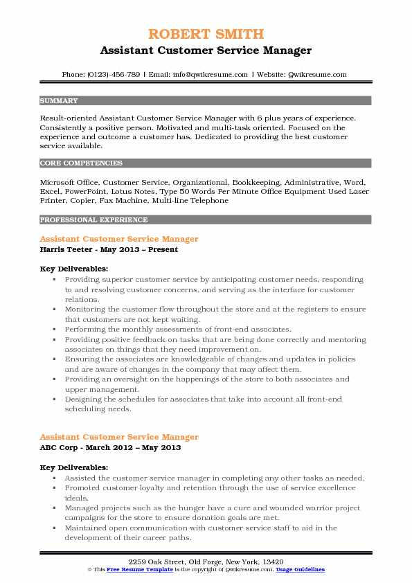 assistant customer service manager resume samples qwikresume pdf format for Resume Customer Service Manager Resume