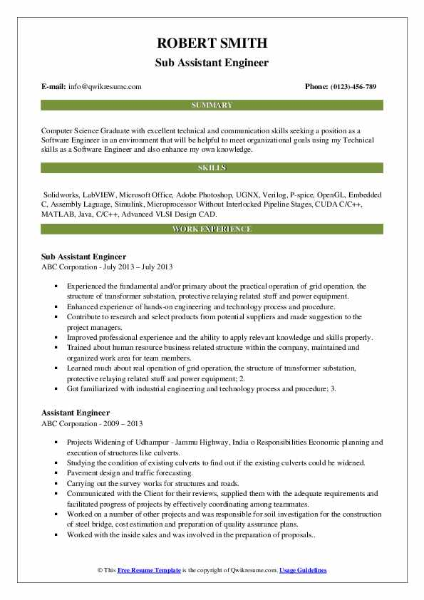 assistant engineer resume samples qwikresume format for cts company pdf estimation Resume Resume Format For Cts Company