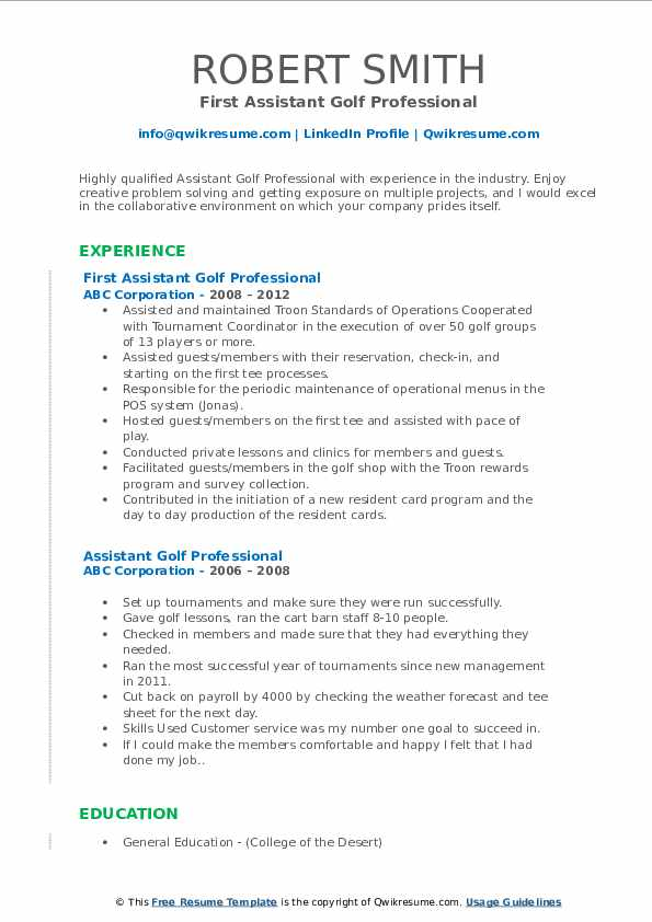 assistant golf professional resume samples qwikresume pdf electrical apprentice objective Resume Assistant Golf Professional Resume