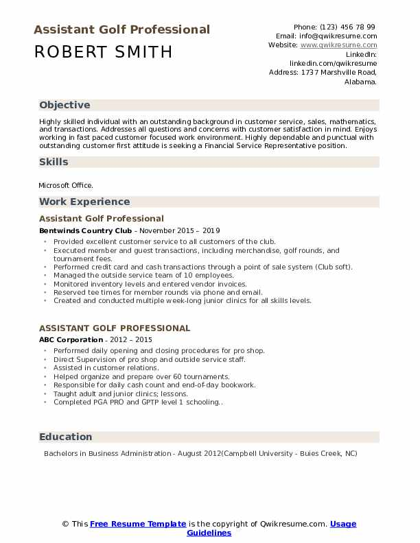 assistant golf professional resume samples qwikresume pdf san diego obiee architect cover Resume Assistant Golf Professional Resume