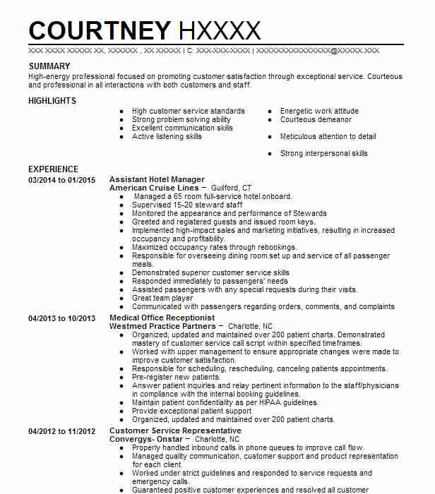 assistant hotel manager resume example resumes livecareer skills media professional Resume Hotel Manager Skills Resume