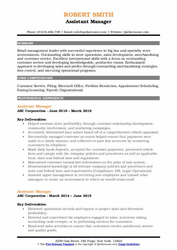 assistant manager resume samples qwikresume format for quality pdf statistical skills Resume Statistical Skills Resume
