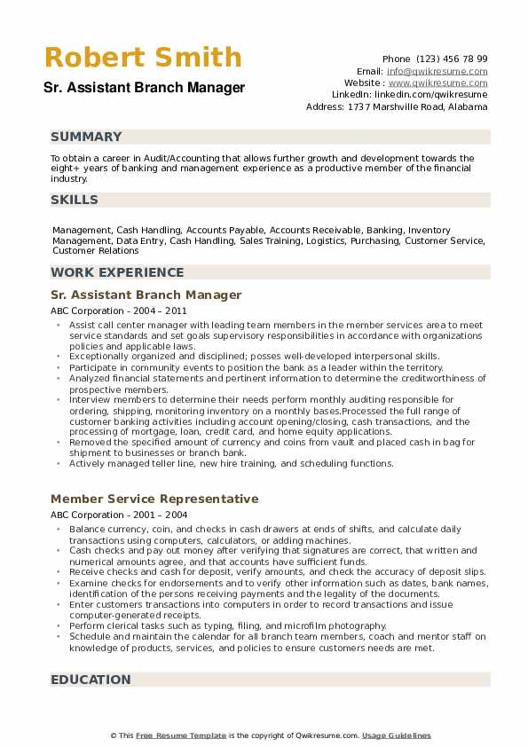 assistant manager resume samples qwikresume objective for pdf achievement statements Resume Branch Manager Objective For A Resume
