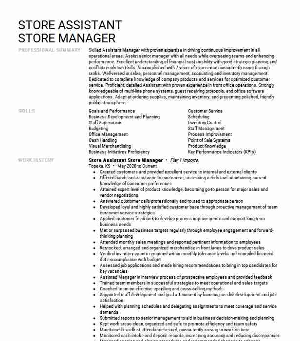 assistant store manager resume example walgreens hugo free for college students medical Resume Assistant Store Manager Resume