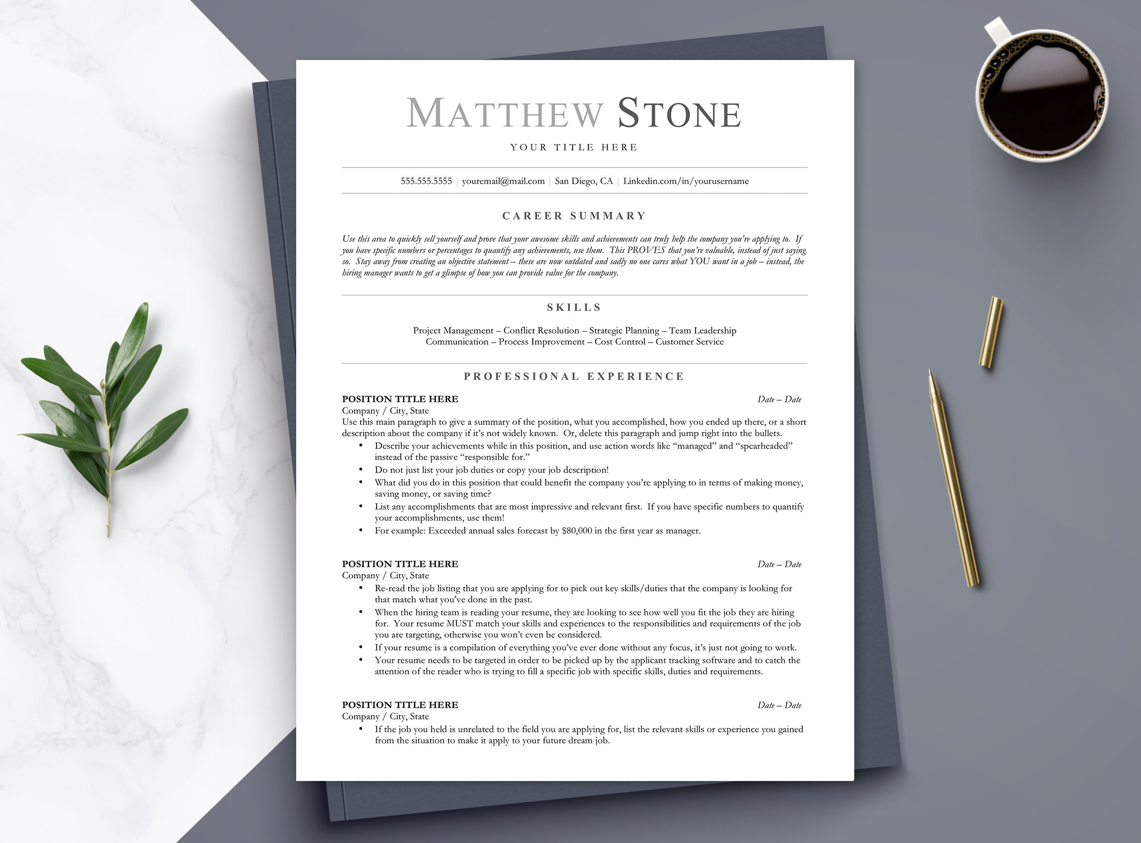 ats friendly resume template for word open office google docs get landed Resume Ats Friendly Resume Template