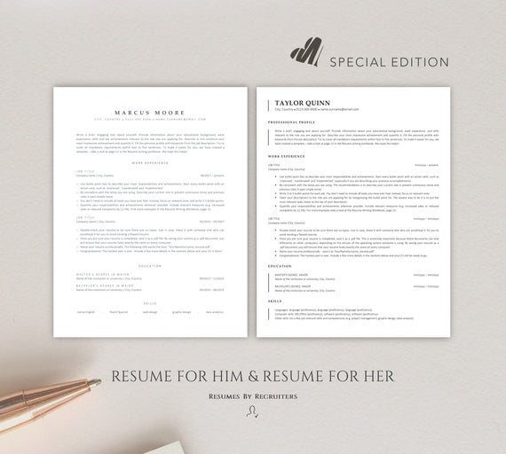 ats friendly resume templates instant two cv etsy template il 570xn dmp7 powerpoint Resume Ats Friendly Resume Template