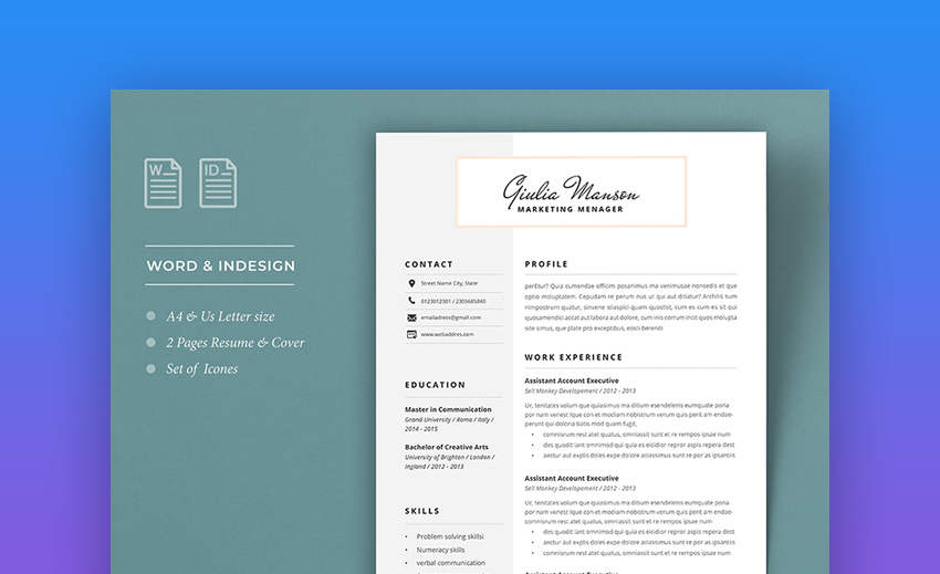 attractive eye catching resume cv templates with stylish aesthetics beautiful and Resume Eye Catching Resume 2020