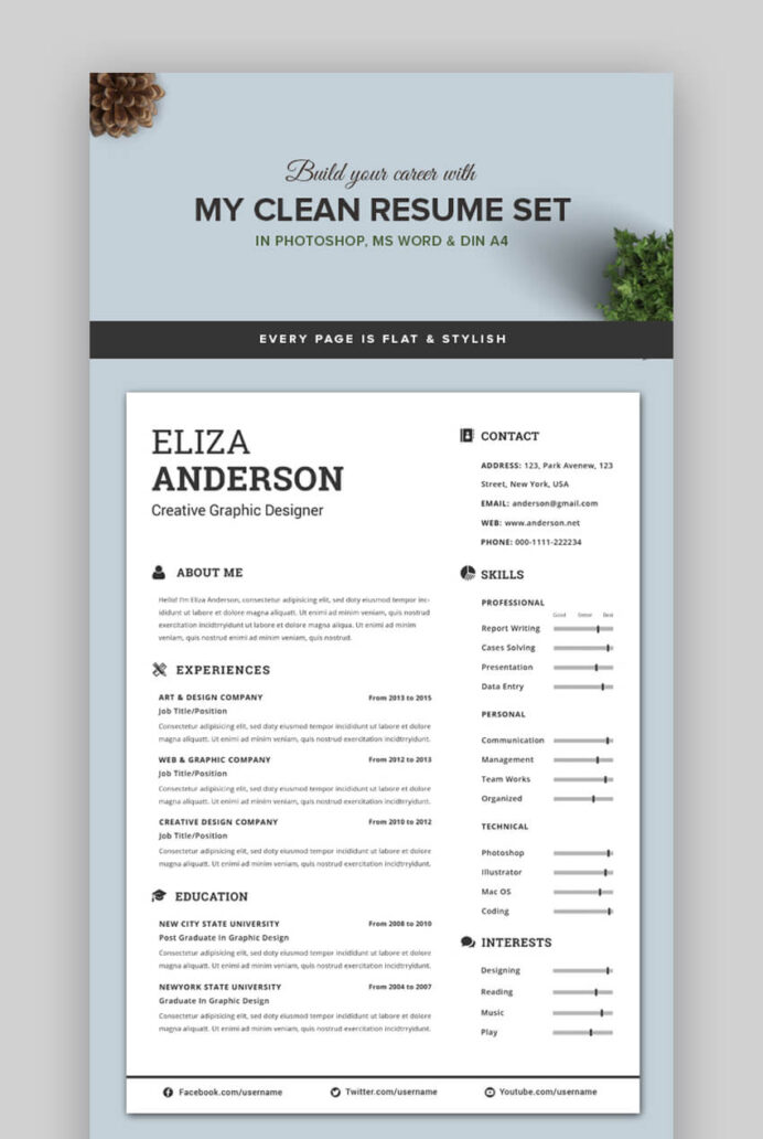 attractive eye catching resume cv templates with stylish aesthetics make your look Resume Make Your Resume Look Professional