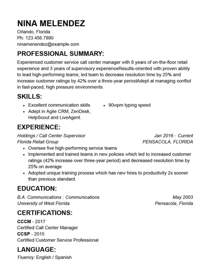 auto parts resume sample good customer service summary for college activities format Resume Good Resume Summary For Customer Service