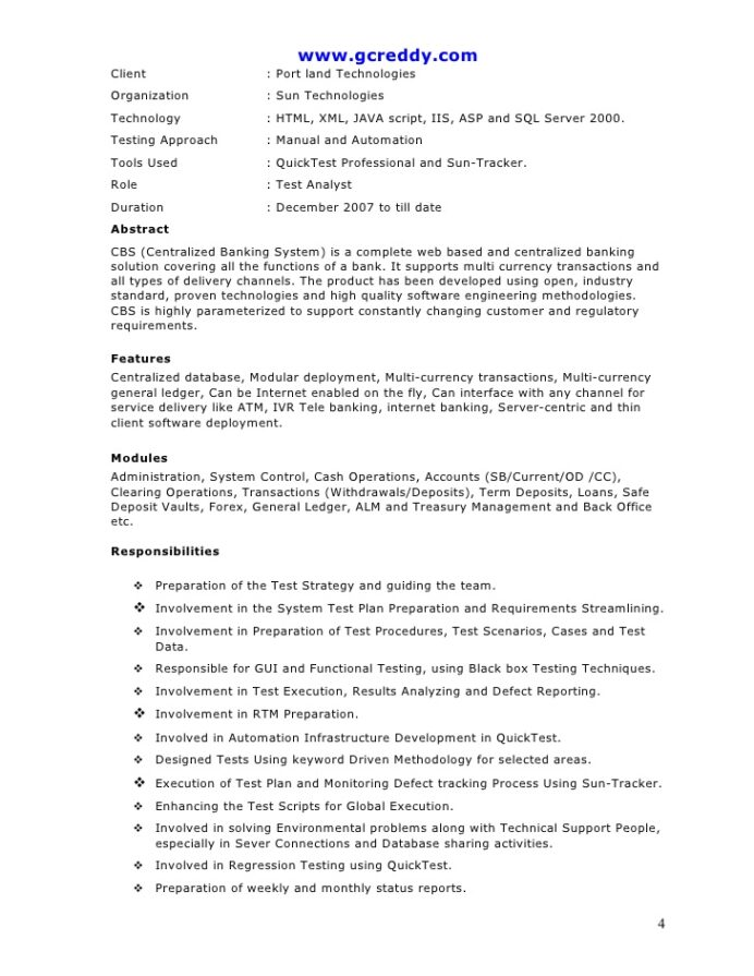 automation tester resume qtp uncg template include gpa on custodian objective oncology Resume Automation Tester Resume