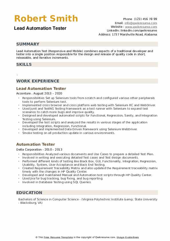 automation tester resume samples qwikresume pdf free cover sheet for nurse educator Resume Automation Tester Resume