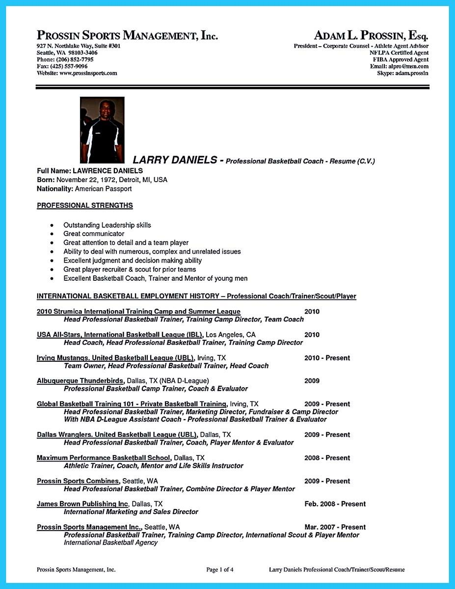 awesome captivating thing for perfect and acceptable basketball coach resume check more Resume Cheerleading Coach Resume