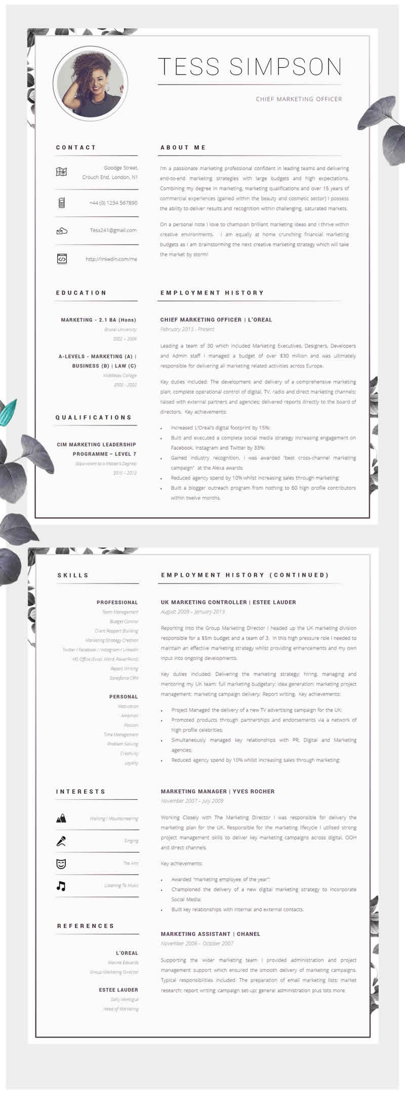 awesome examples of creative cvs resumes guru about resume design talent management Resume About Me Resume Examples