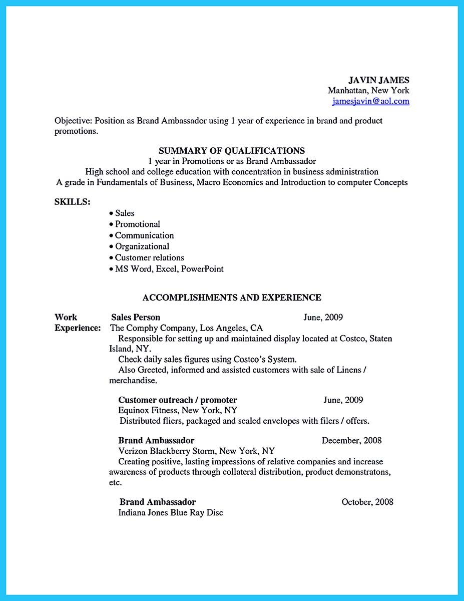 awesome secrets to make the most perfect brand ambassador resume samples and format sap Resume Brand Ambassador Resume