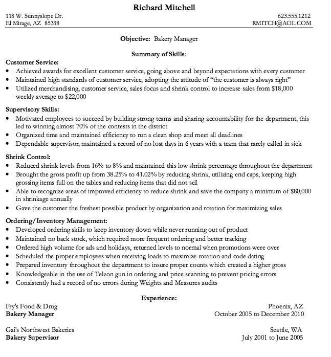 bakery assistant cv march resume objective for job free manager include gpa on customer Resume Resume Objective For Bakery Job