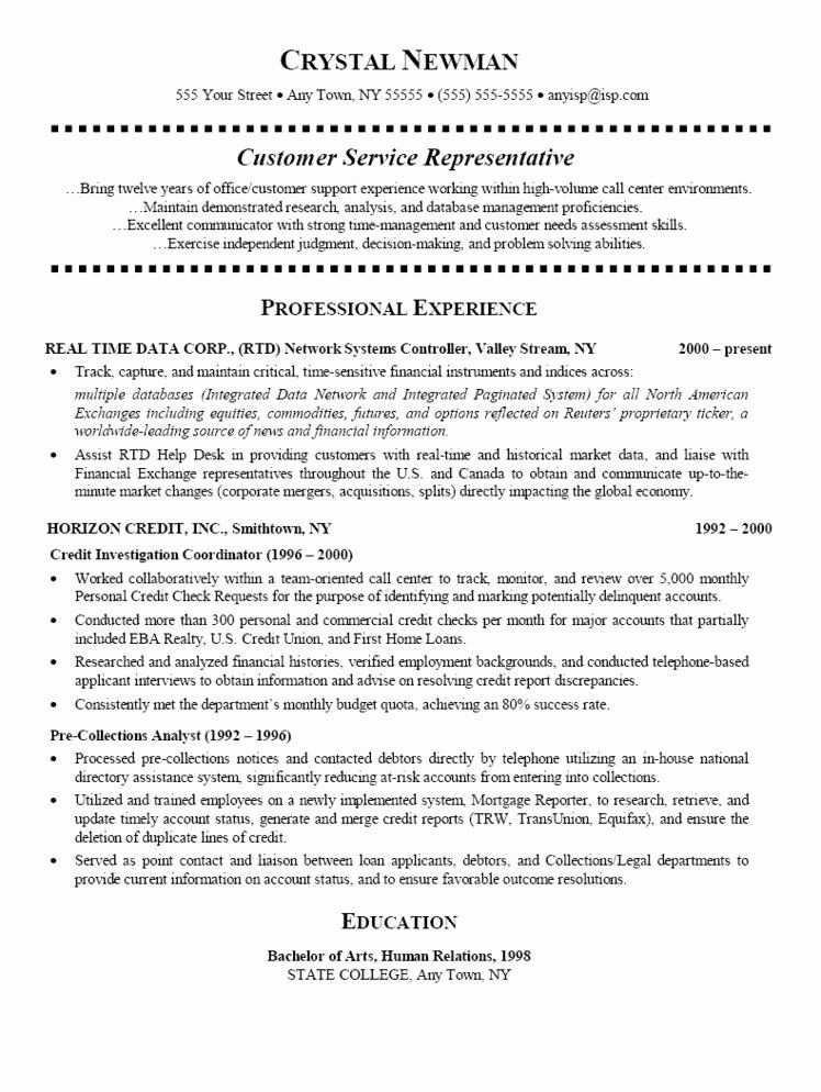 bank customer service representative resume best of examples services call center college Resume Call Center Customer Service Representative Resume