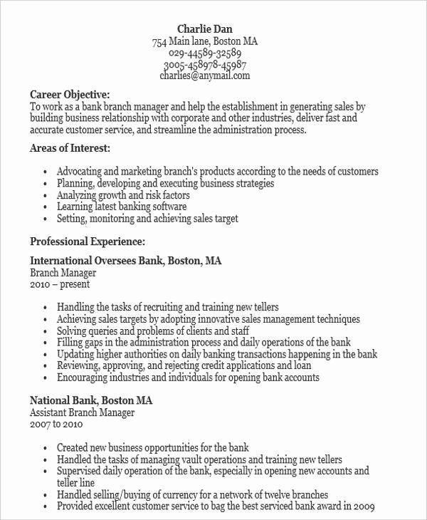 bank manager resume awesome samples word apple job objective examples for warehouse Resume Branch Manager Objective For A Resume