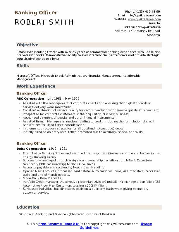 banking officer resume samples qwikresume federal bank careers upload pdf teacher summary Resume Federal Bank Careers Resume Upload