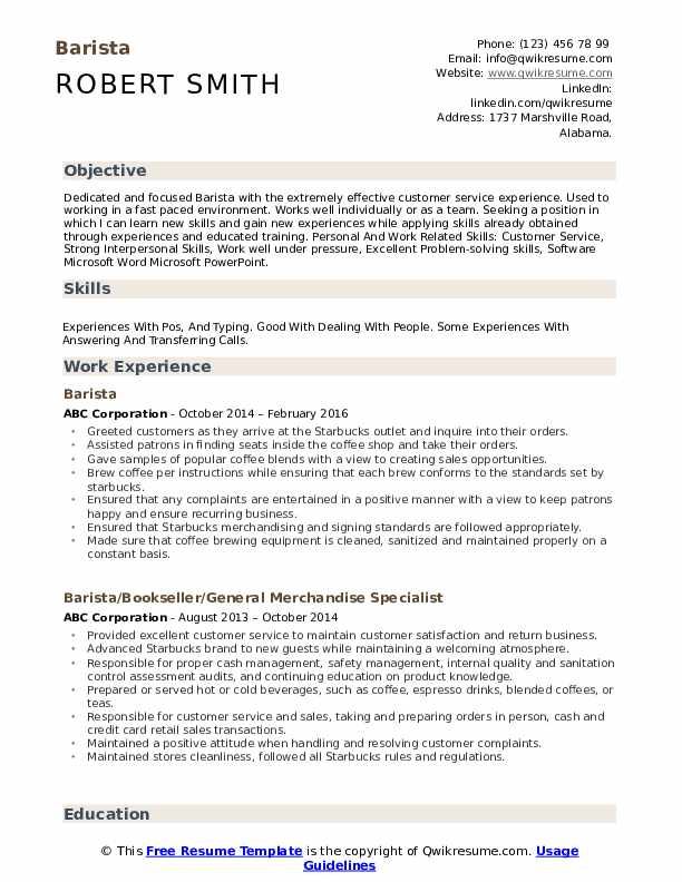 barista resume samples qwikresume work related skills for pdf and strengths examples Resume Work Related Skills For Resume