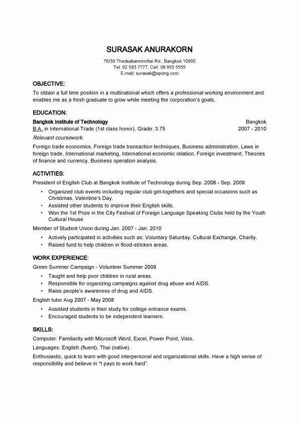 basic resume template free fresh objective samples for employer builder examples college Resume Free Online Resume Builder For College Students