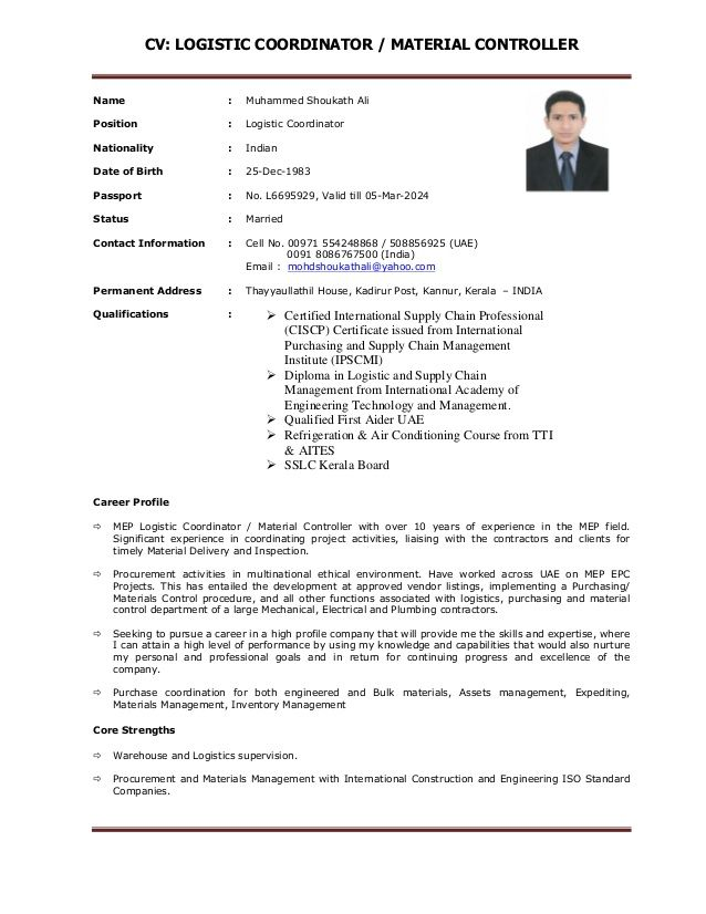 beautiful image of resume examples for logistics coordinator updating with one company Resume Logistics Coordinator Resume