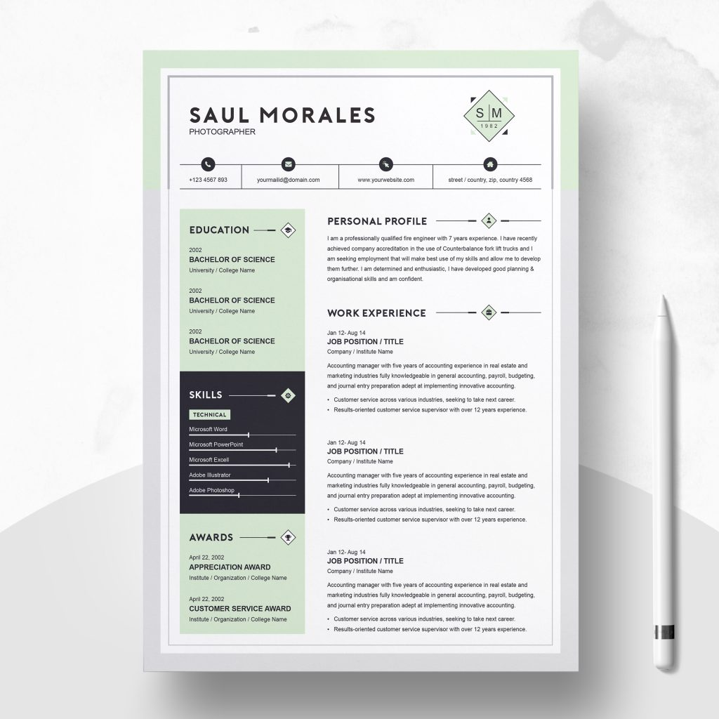 best contemporary new styles resume cv for modern template cover letter professional Resume Contemporary Modern Resume Template