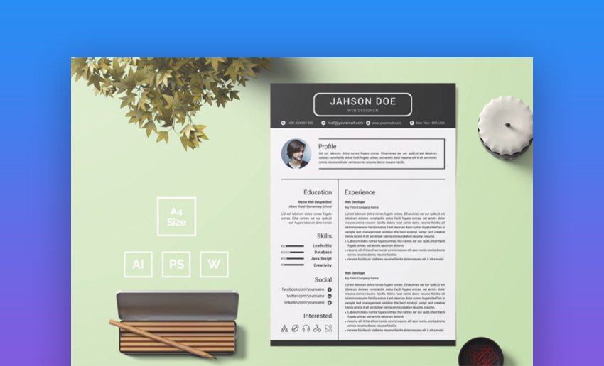 best contemporary resume cv templates new modern styles for layout elements1 free wizard Resume Best Resume Layout 2020