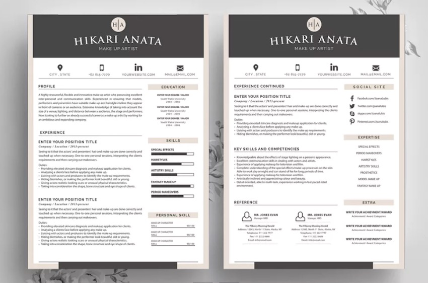 best contemporary resume cv templates new modern styles for layout fin simple template Resume Best Resume Layout 2020