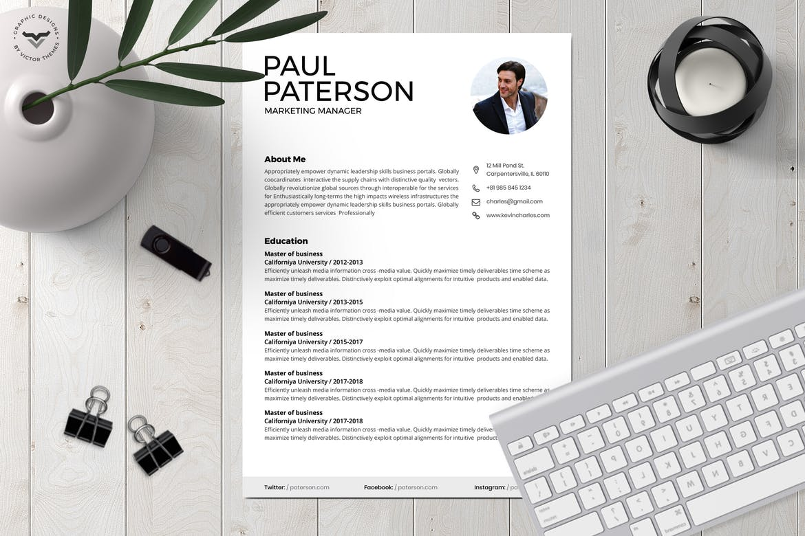best cv resume templates theme for animal caretaker good and cover letter examples school Resume Resume Templates For 2020