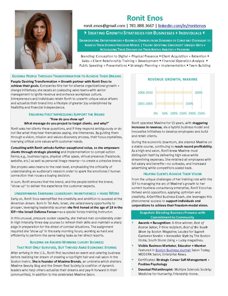 best executive resume writer certified ronit enos illustrated final pdf 791x1024 attorney Resume Executive Resume Writer