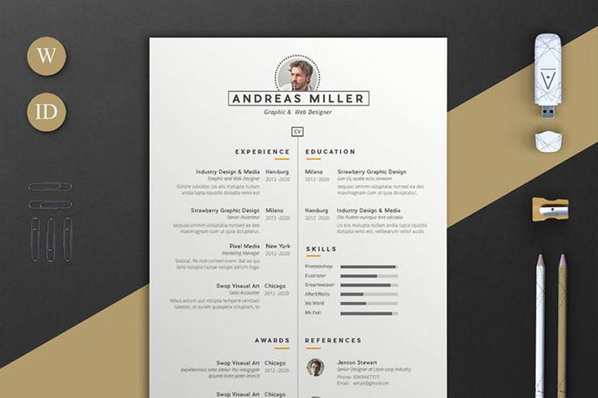best indesign resume templates free pro cv downloads andreas react native example Resume Free Resume Templates 2020