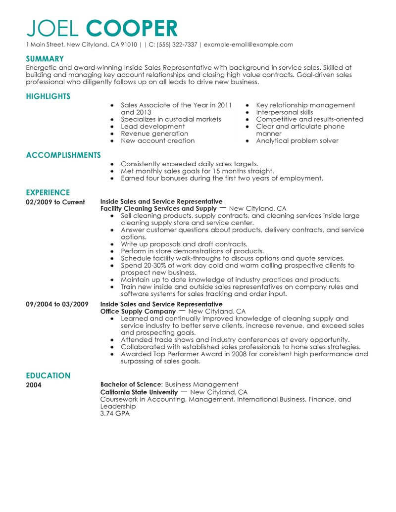 best inside resume example from professional writing service examples hobbies and Resume Inside Sales Resume Examples