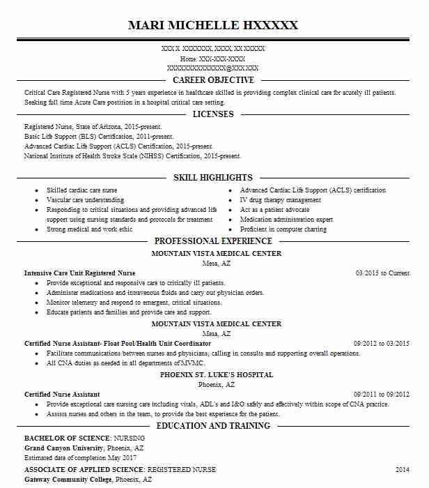 best intensive care unit registered nurse resume example livecareer sample icu disneyland Resume Sample Icu Nurse Resume