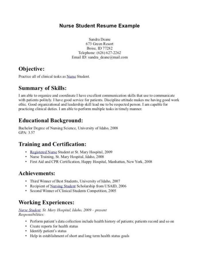 best of image brief about for resume examples sample format word student nurse nursing Resume About Me Resume Examples