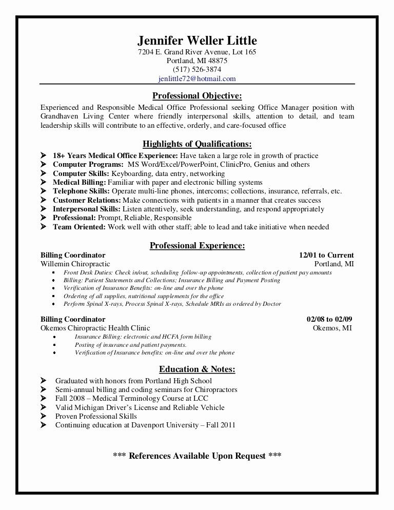 best of image resume examples for less experience medical coder assistant chiropractic Resume Chiropractic Assistant Resume