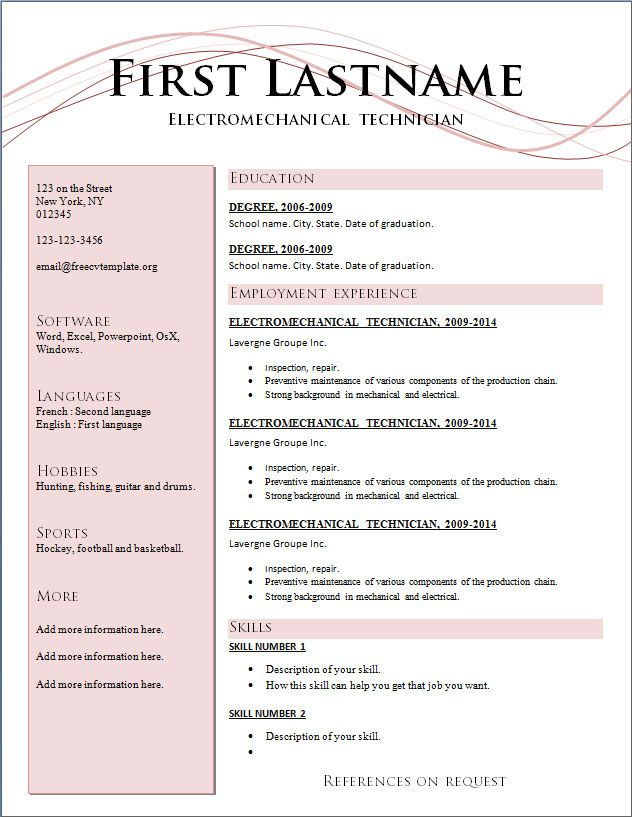 best professional resume format free template word sample templates current lying on Resume Free Current Resume Templates