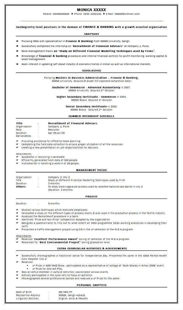 best resume format mba finance experience sle summary examples template free skills for Resume Free Mba Resume Template