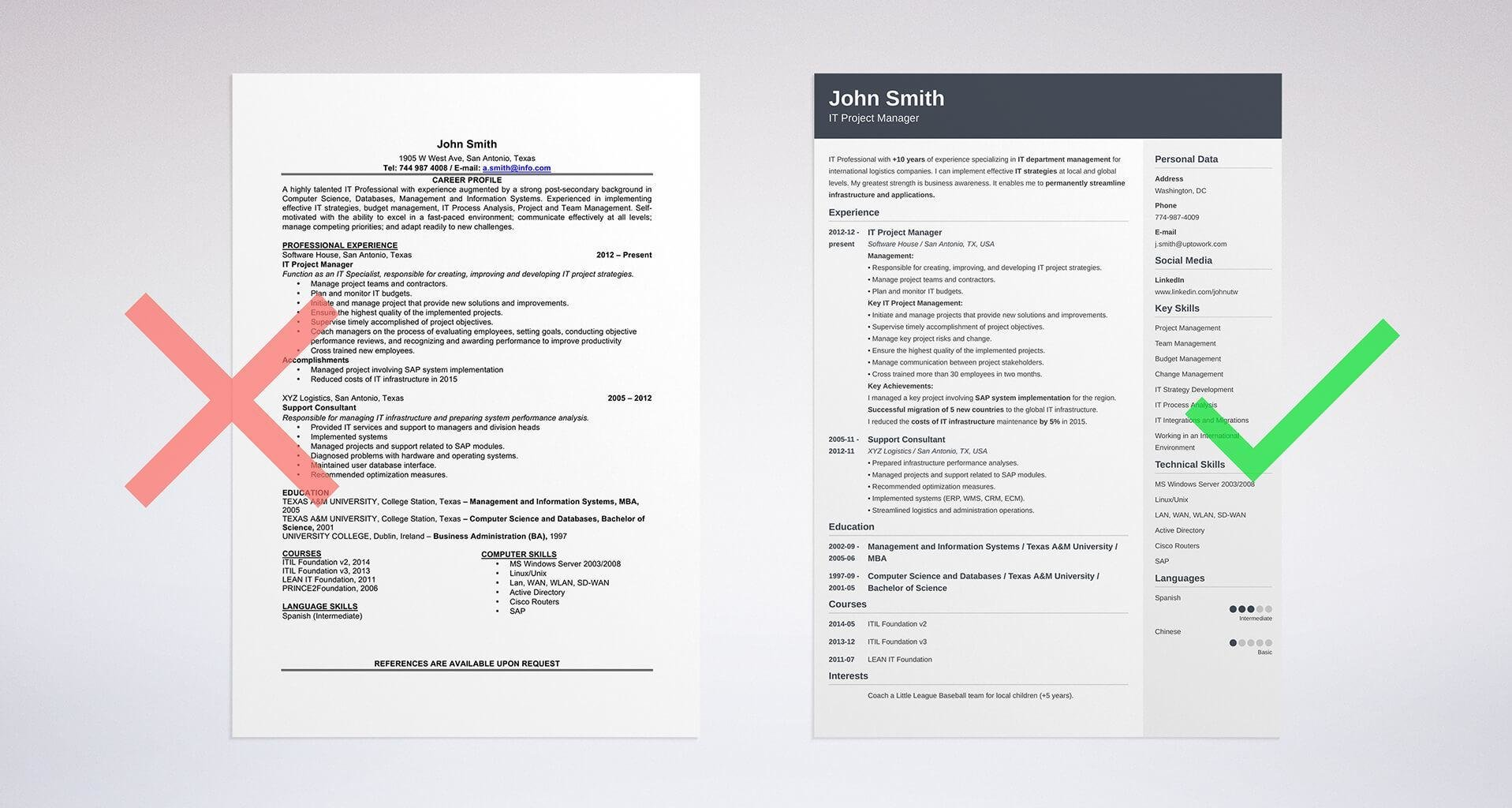 best resume format professional samples job examples formats template and cover letter Resume Job Resume Examples 2020